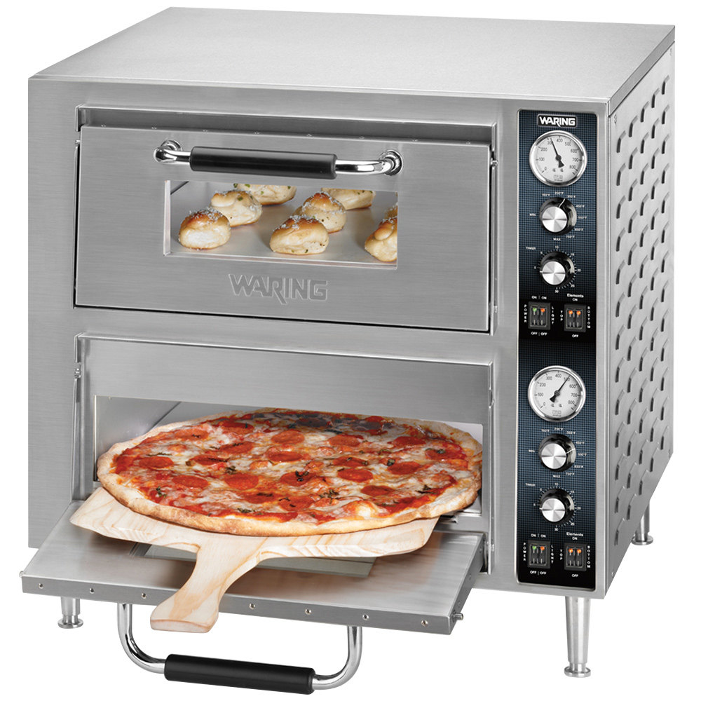 Countertop Pizza Cooker ~ Waring wpo double deck countertop pizza oven with two