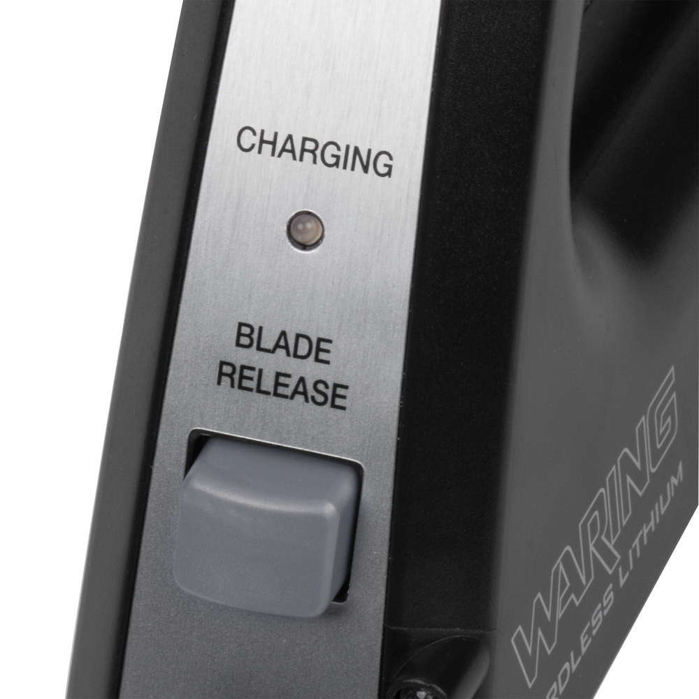 Battery Operated Carving Knife: Waring WEK200 Cordless Rechargeable Lithium Ion Electric