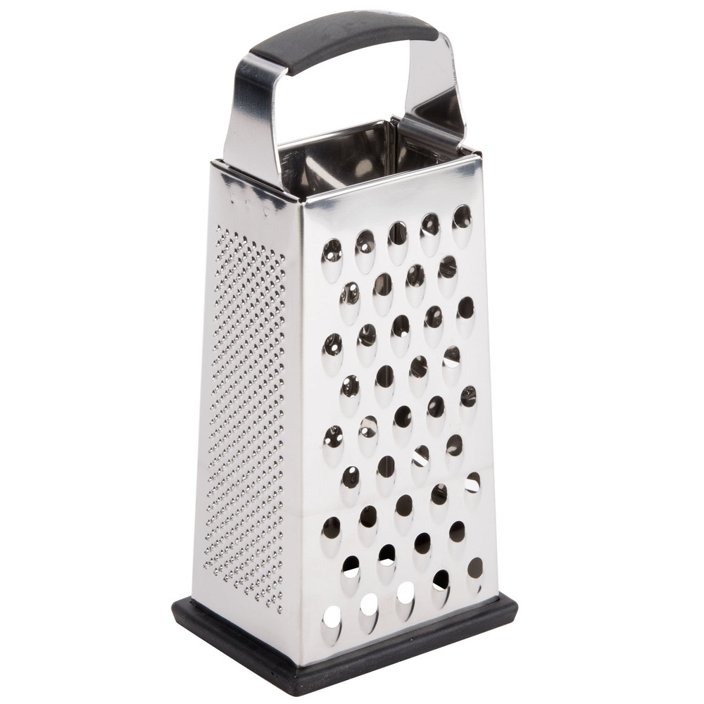Tablecraft SG205BH 9 inch 4-Sided Heavy-Duty Stainless Steel Box Grater ...  sc 1 st  Webstaurant Store & Cheese Graters | Zesters | Hand Graters Aboutintivar.Com