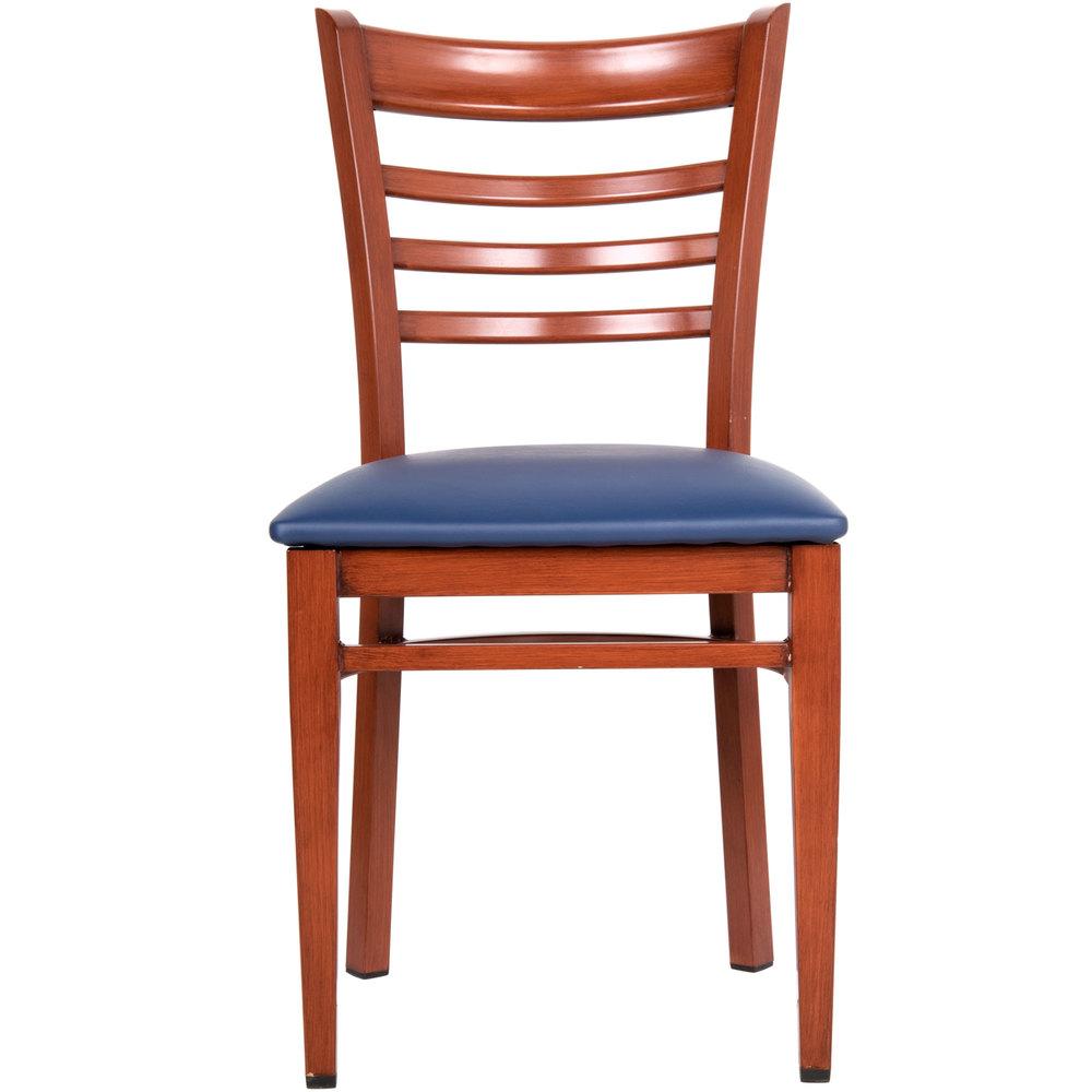 Lancaster Table Seating Spartan Series Metal Ladder Back Chair
