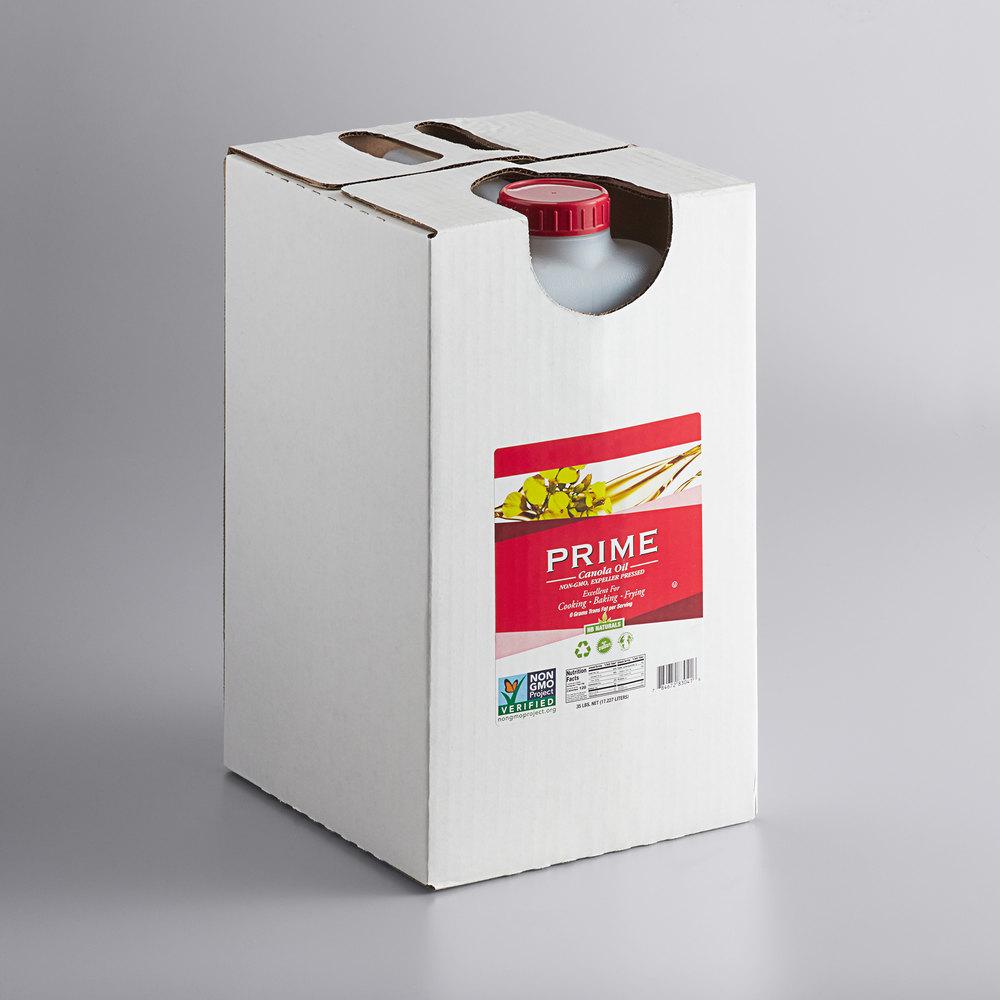 Box of Prime non-GMO expeller pressed canola oil