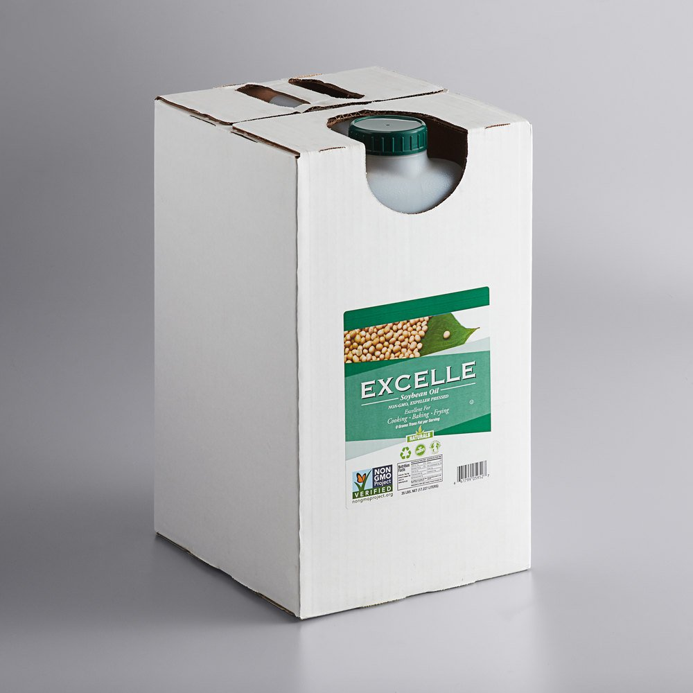 Box of Excelle non-GMO soybean oil