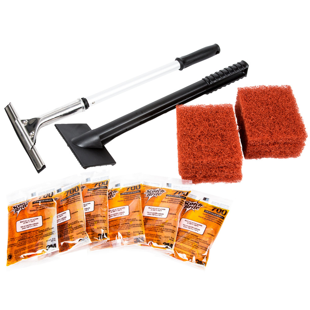 3m 710 scotch brite quick clean griddle cleaning system starter kit. Black Bedroom Furniture Sets. Home Design Ideas