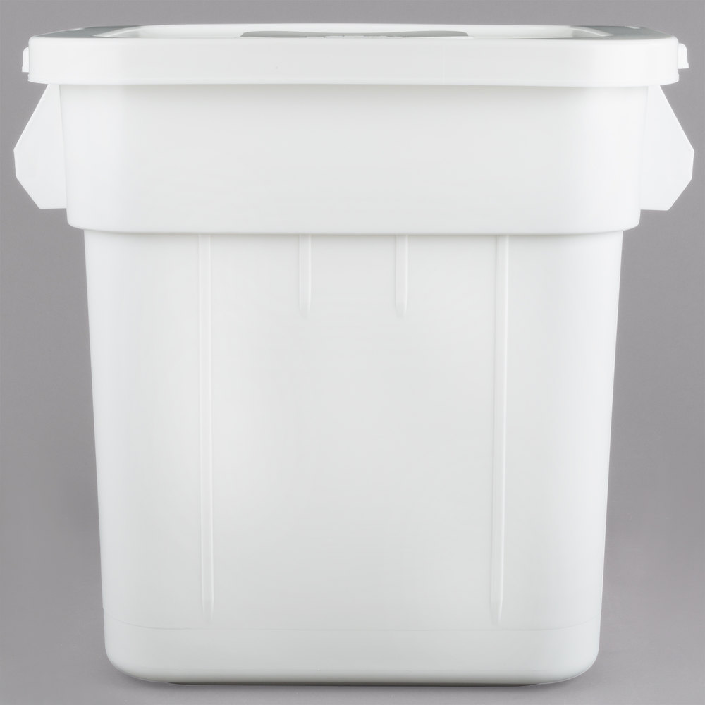 Continental 9332 32 Gallon White Mobile Ingredient Storage