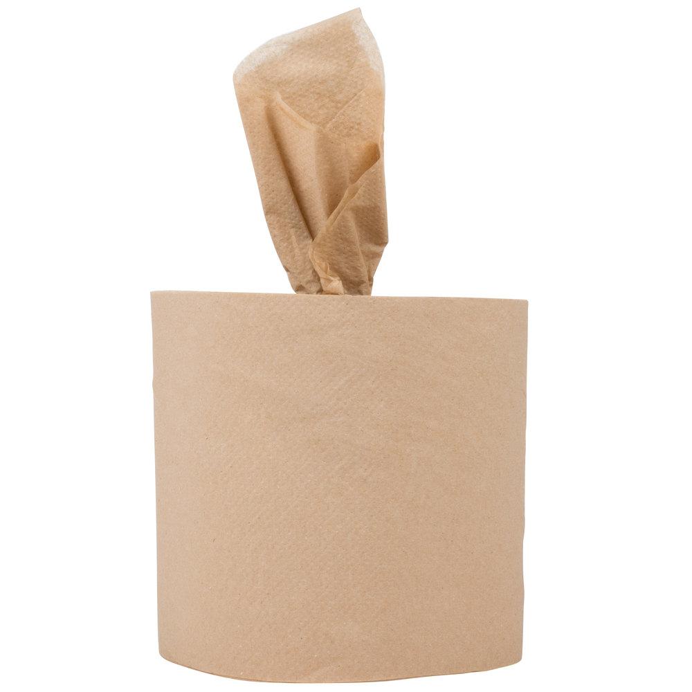 response 27500 retain 2 ply brown natural kraft coreless center pull paper towel 500 - Paper Towel Roll