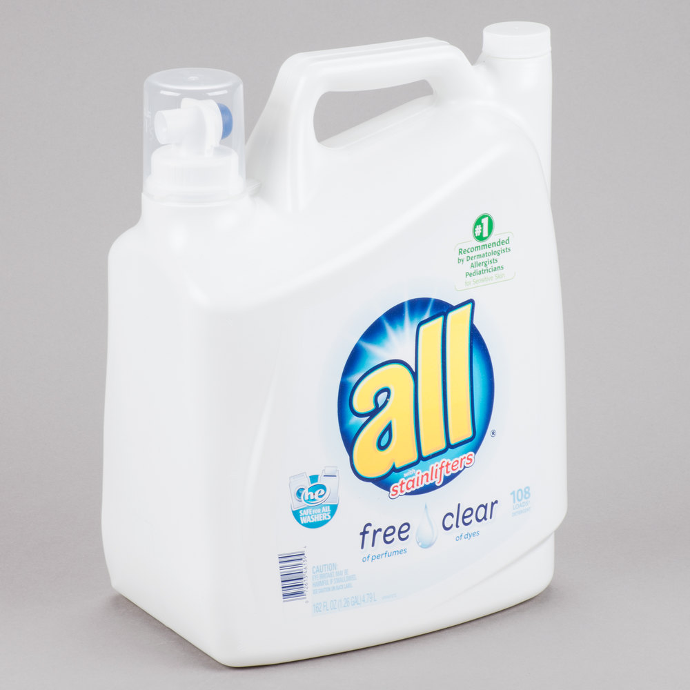 High Efficiency Detergent Brands Diversey Cb461391 162 Oz All Free Clear High Efficiency Laundry
