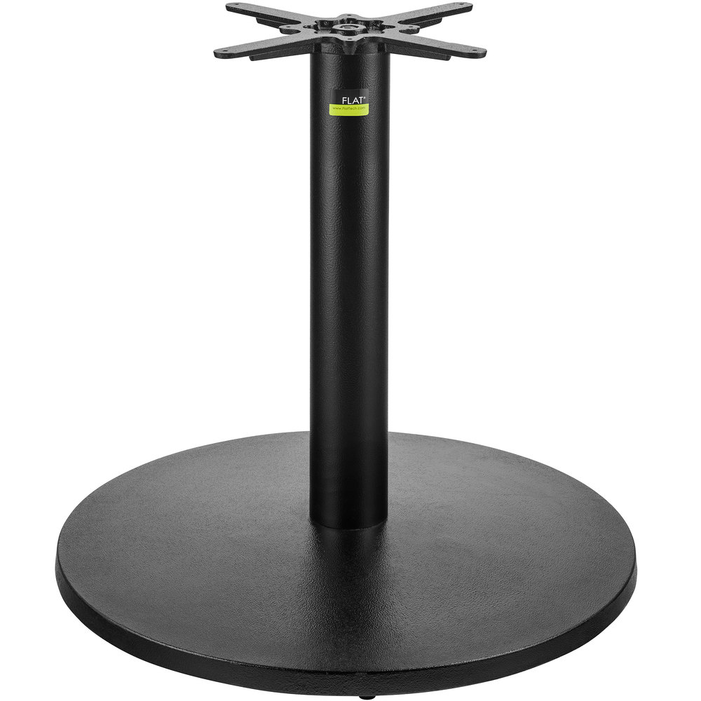 FLAT Tech CT3013 30 Inch Auto Adjustable Round Black Table Base ...