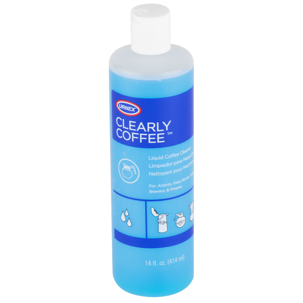 coffee pot cleaner urnex 13 clrcf12 12 14 oz clearly coffee liquid coffee 31254