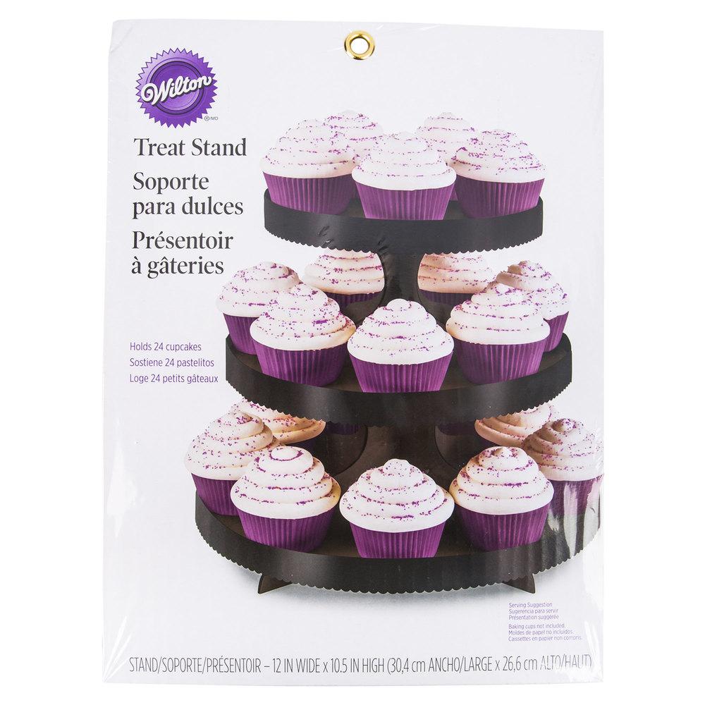 Wilton 1512-0860 3-Tier Black Disposable Cupcake Display Stand