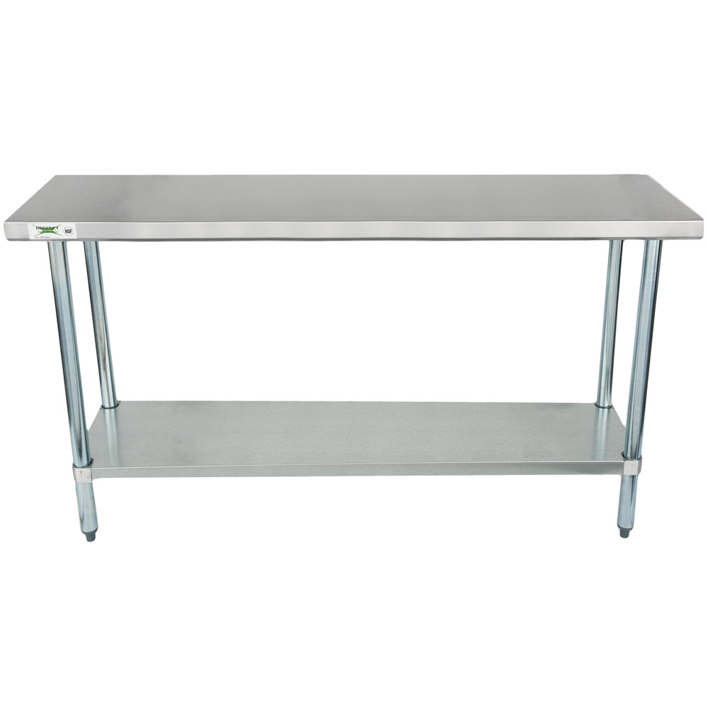 Stainless Steel Work Tables Food Prep Tables Stainless Steel Tables - 18 wide stainless steel work table