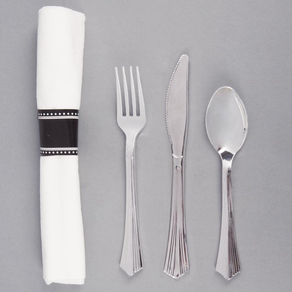 silver plastic cutlery silver plastic silverware
