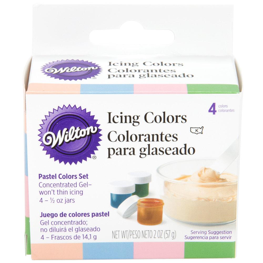 Wilton 601-25588 .5 oz. Pastel Gel Food Colors - 4/Pack