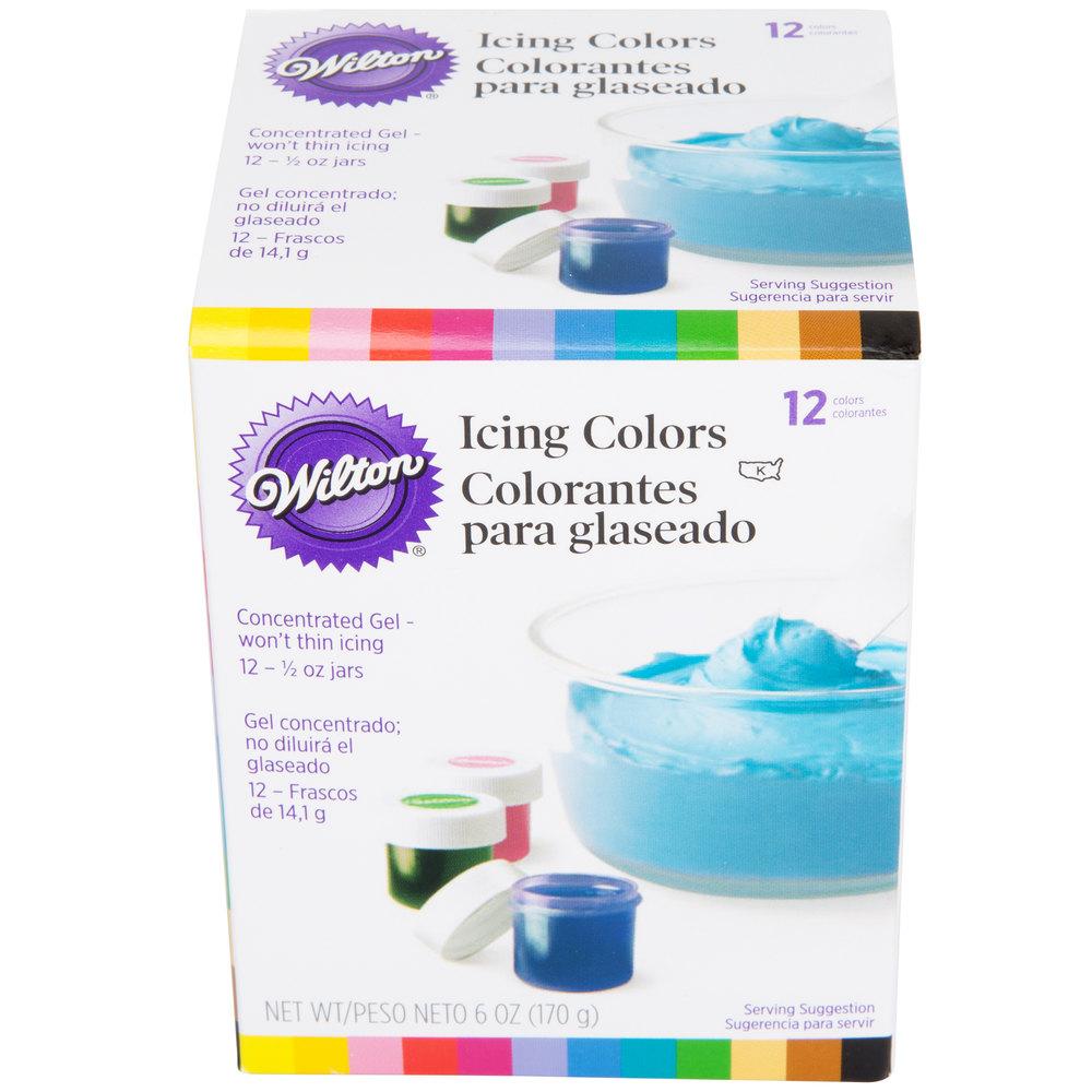 Wilton 601-5580 12-Pack of .5 oz. Gel Food Colors - 12/Pack