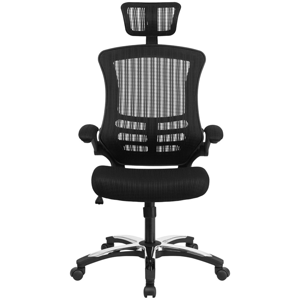 flash furniture bl x 5h gg high back black mesh executive office chair
