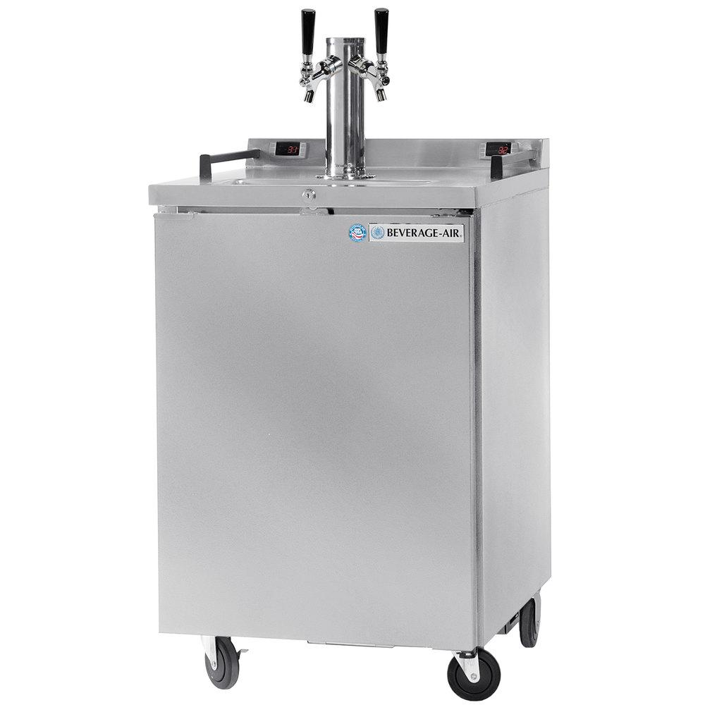 Beverage Air Dz24 1 S Double Tap Dual Zone Kegerator Beer Dispenser Stainless Steel 1 1 2