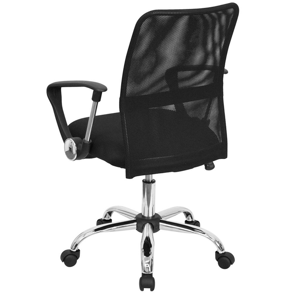 Flash Furniture GO 6057 GG Mid Back Black Mesh Office Computer