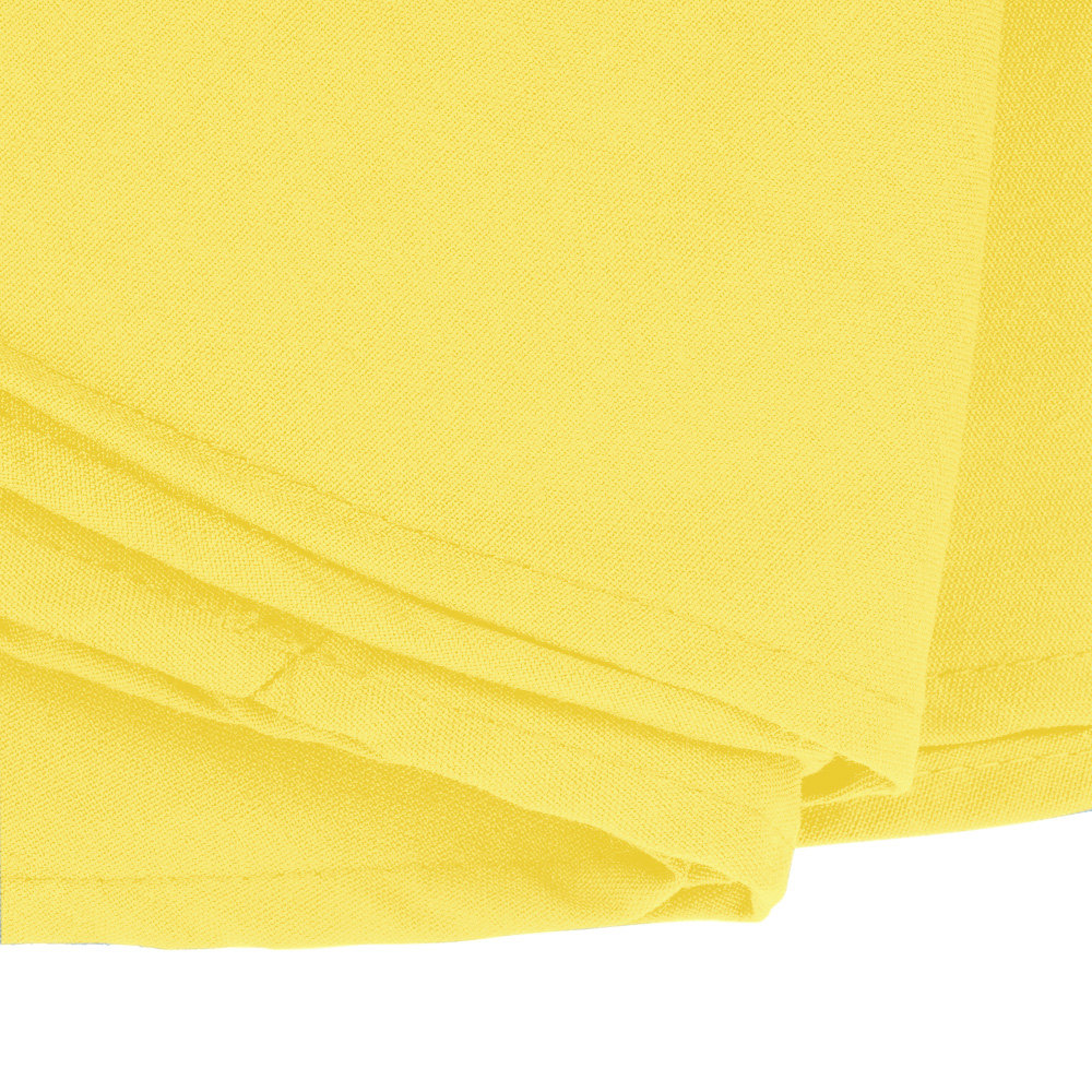 120 round yellow 100 polyester hemmed cloth table cover for 120 round table cover