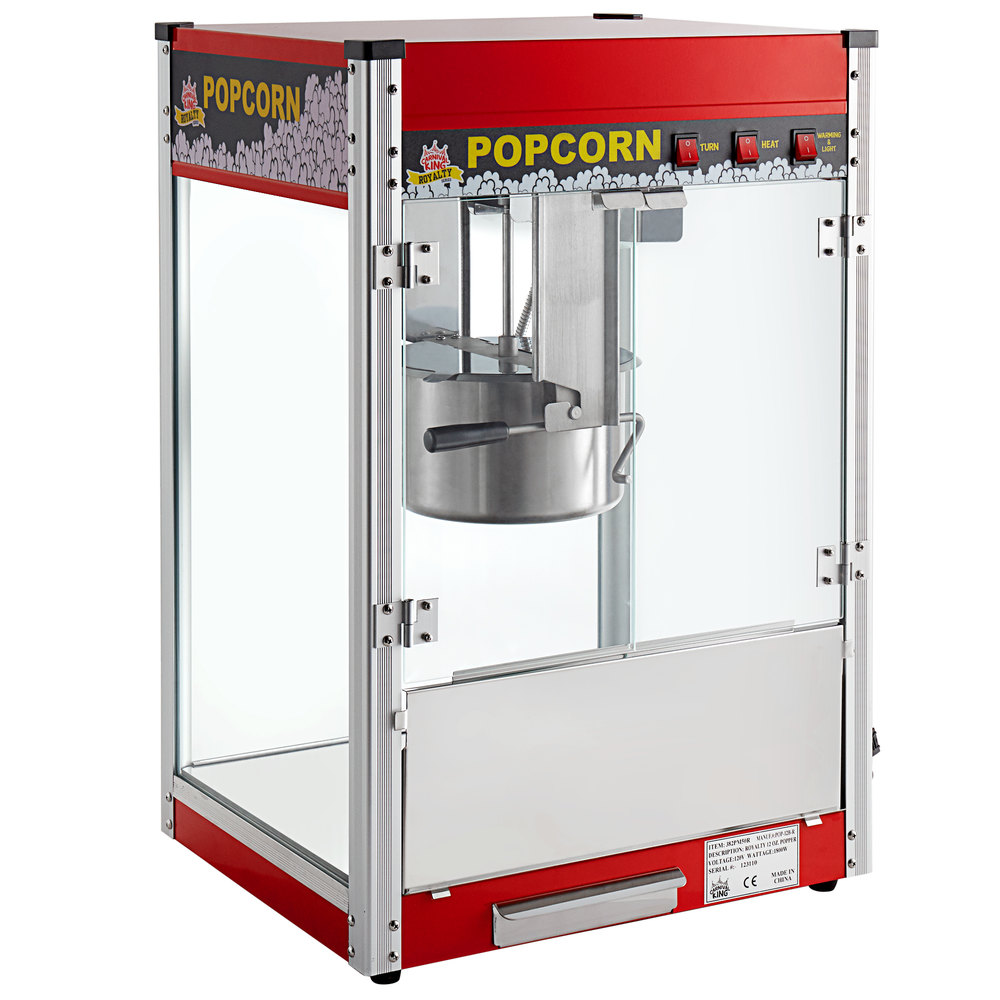 Carnival King PM50R Royalty Series 12 oz. Red Commercial Popcorn Machine / Popper - 120V