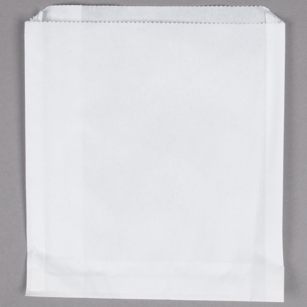 Carnival King 6 inch x 3/4 inch x 6 1/2 inch Extra Large French Fry Bag - 500/Pack