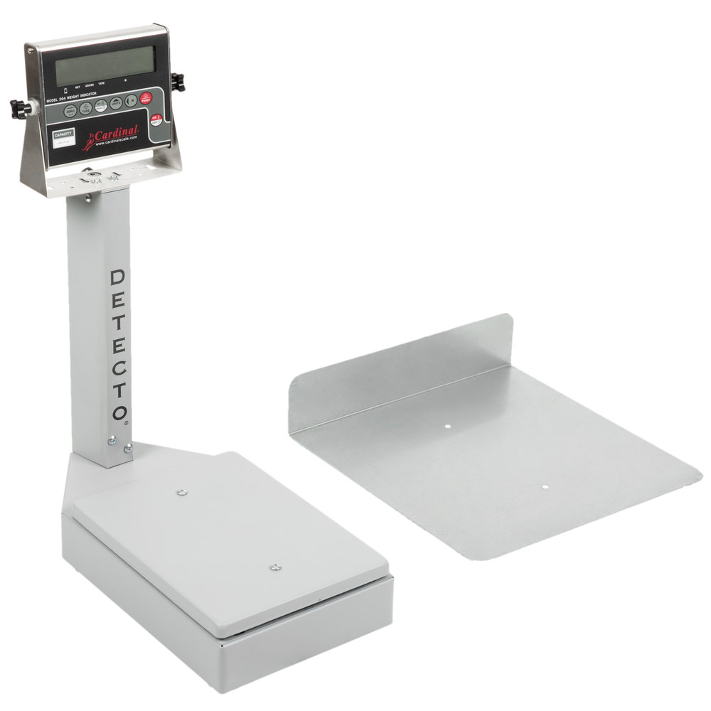 cardinal detecto 7045g 400 lb 180 kg digital platform bench scale with 204 indicator - Detecto Scales