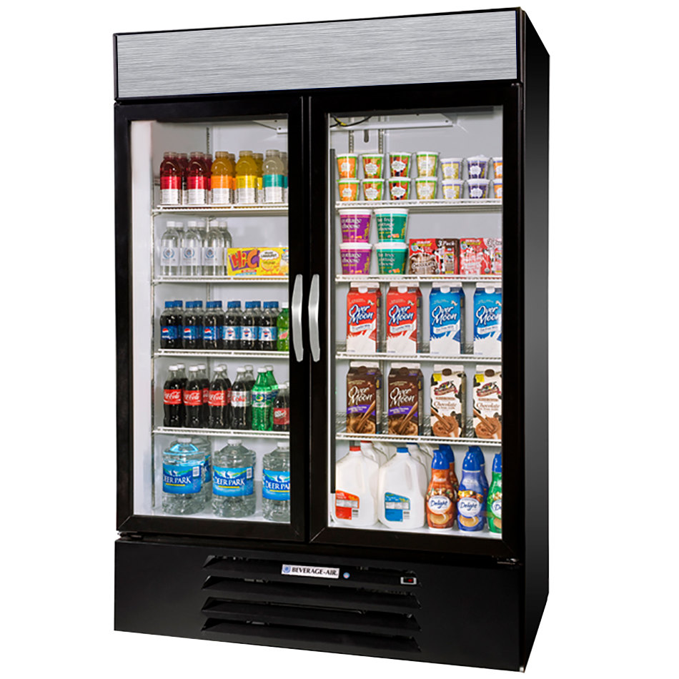Beverage air glass door refrigerators and merchandisers beverage air mmr44hc 1 b marketmax 47 inch black two section glass door planetlyrics Choice Image