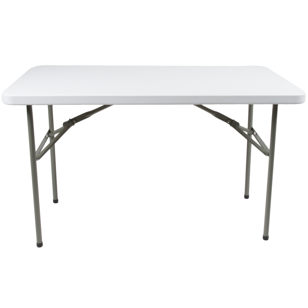 Lancaster Table U0026amp; Seating 24 Inch X 48 Inch Heavy Duty White Granite Plastic  Folding