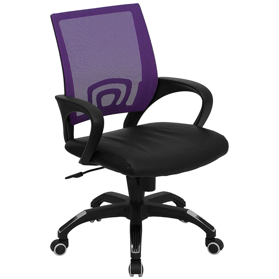 flash furniture cp-b176a01-purple-gg mid-back computer / office