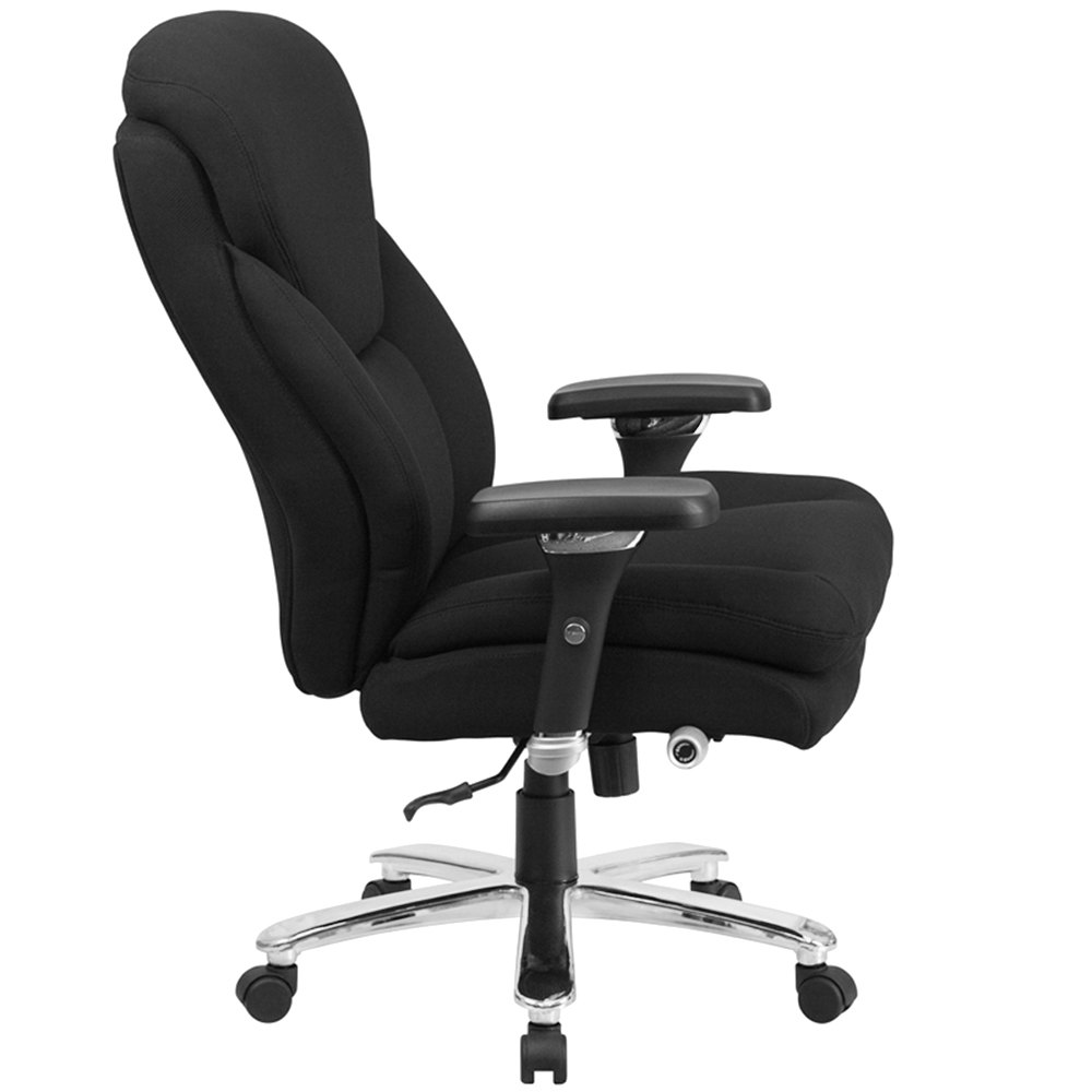 intensive use multi shift swivel office chair with lumbar support knob