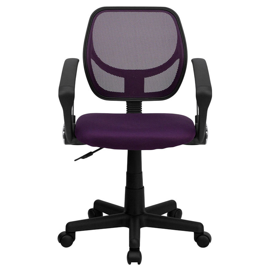 Flash Furniture Wa 3074 Pur A Gg Mid Back Purple Mesh Office Task Chair With Nylon Base And