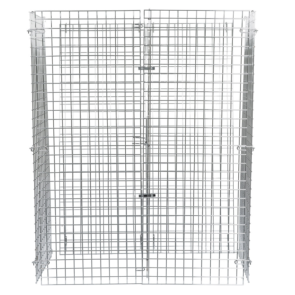 Regency NSF Chrome Wire Security Cage - 24 inch x 48 inch x 61 inch