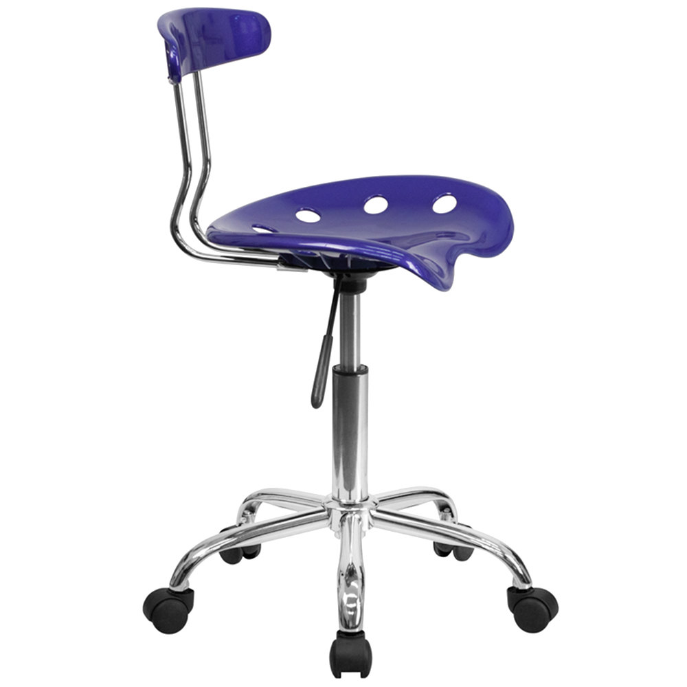 flash furniture lf 214 deepblue gg deep blue office task chair with