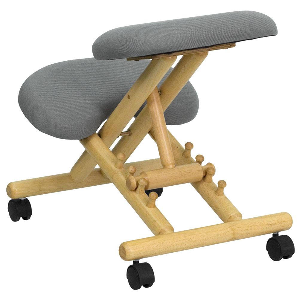 Furniture WL SB 101 GG Gray Ergonomic Mobile Kneeling Office Chair