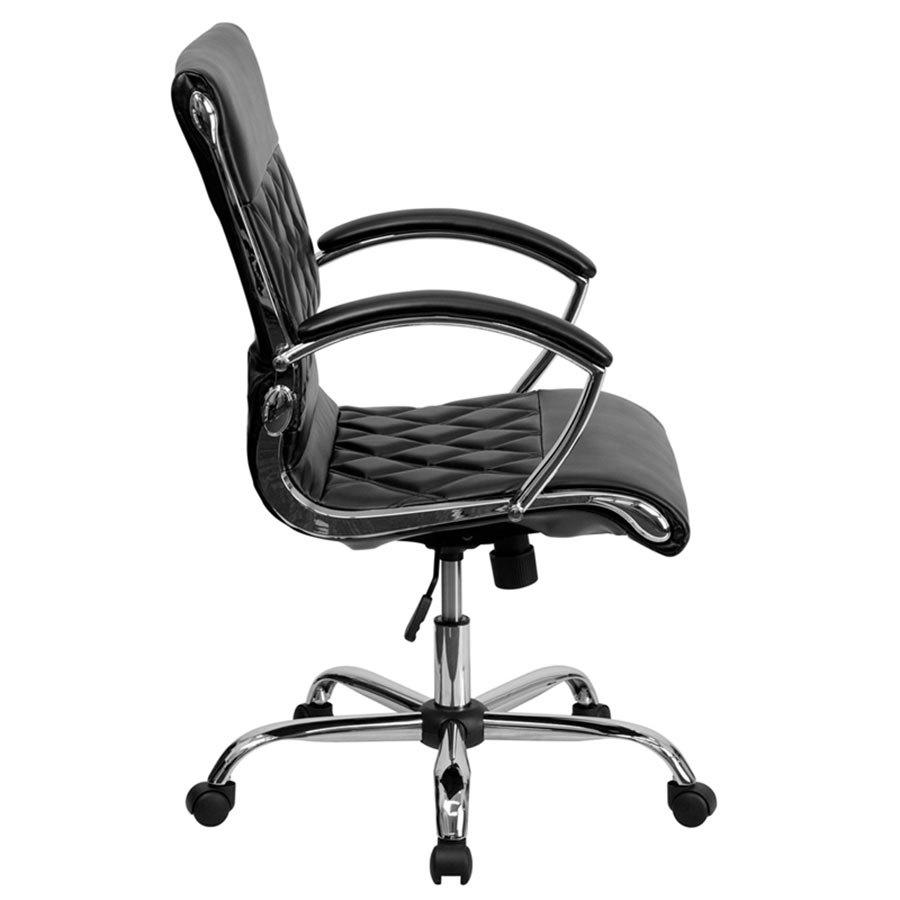 Flash Furniture GO 1297M MID BK GG Mid Back Black Designer Leather