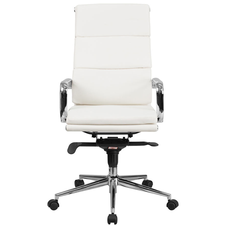 Flash Furniture BTHWHGG HighBack White Leather Executive - White leather office chairs