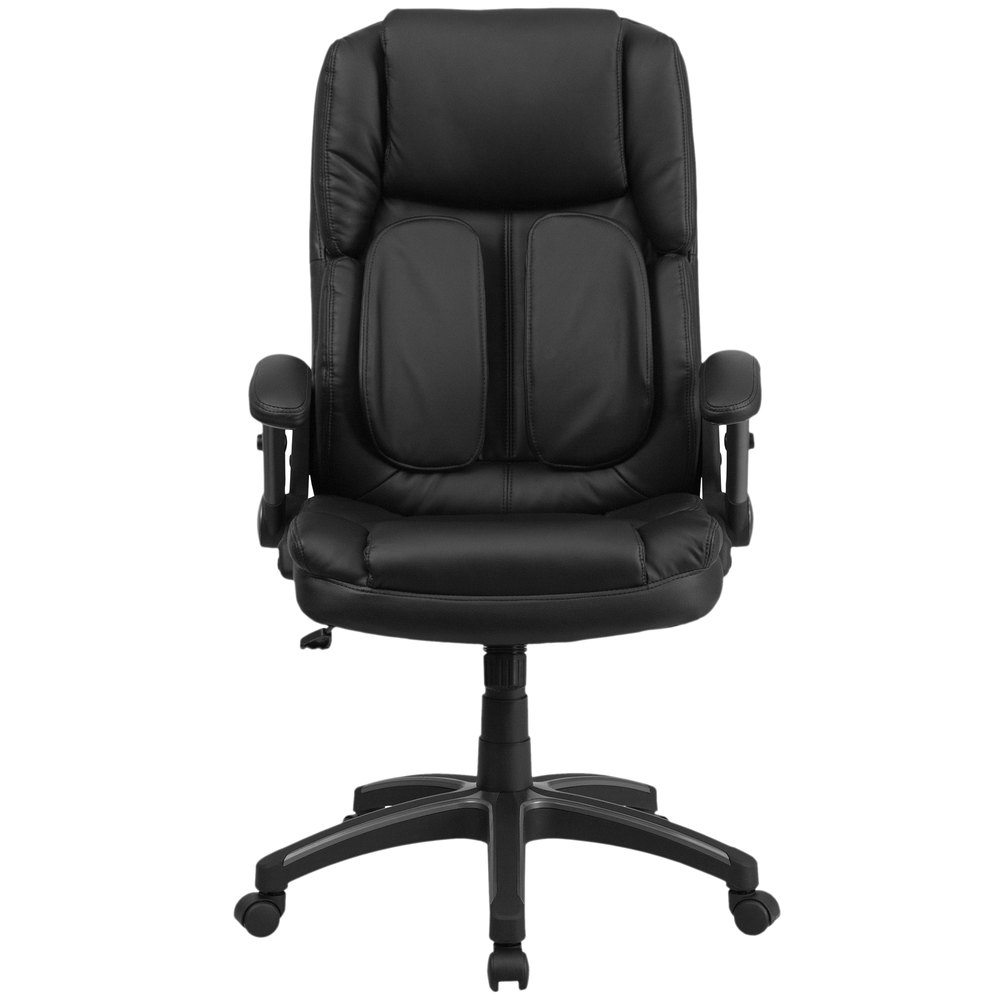 Flip Furniture Flash Furniture Bt 90275h Gg High Back Black Leather Executive
