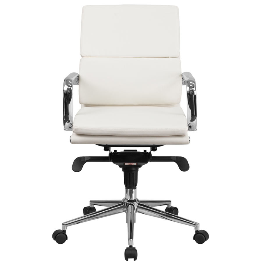 white leather office chair. main picture; image preview; preview white leather office chair