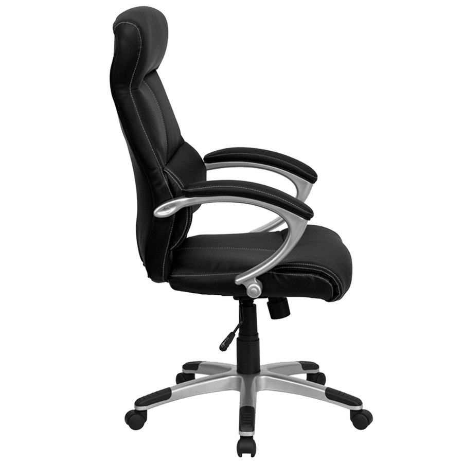 flash furniture h-9637l-1c-high-gg high-back black leather