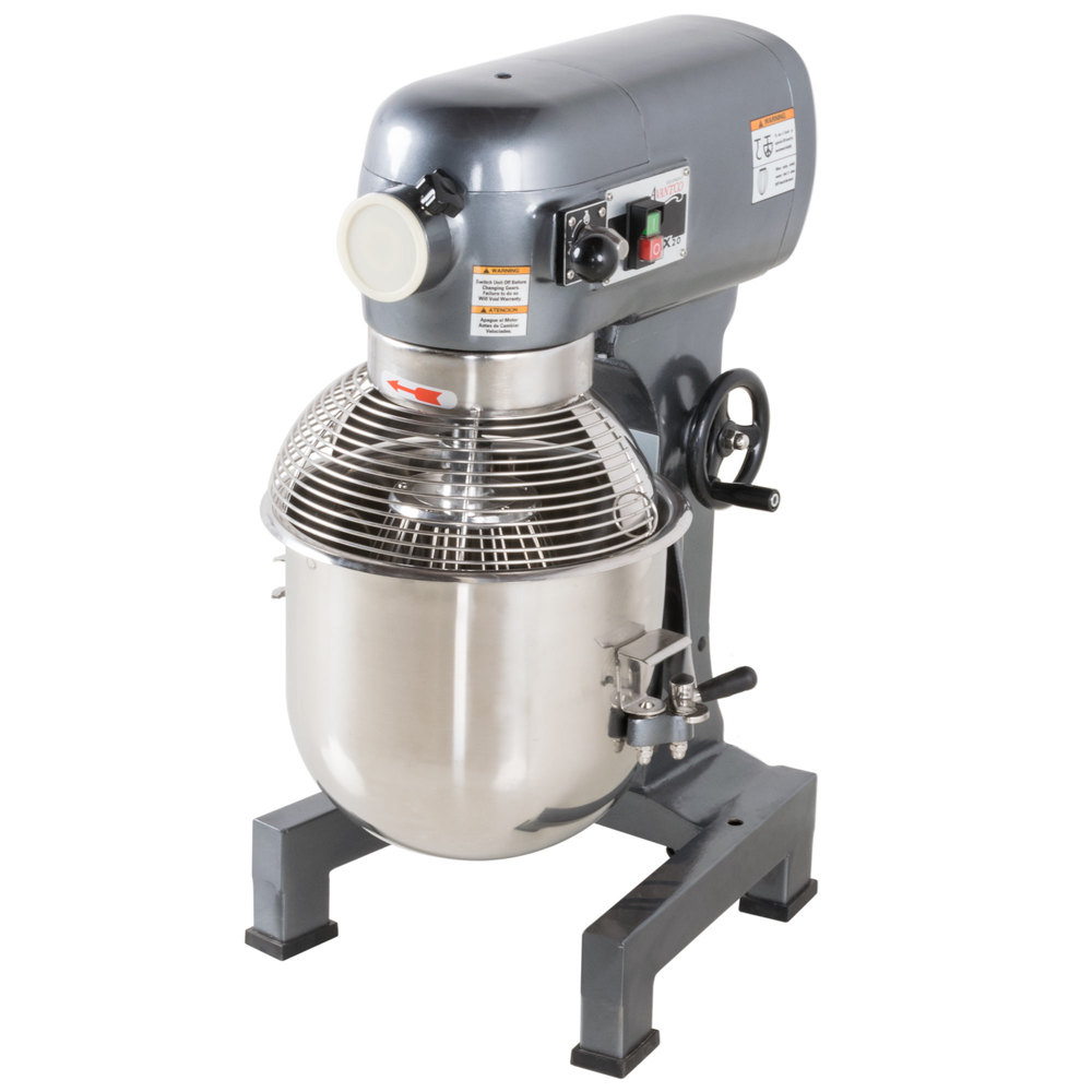 Avantco Mx20 20 Qt Gear Driven Commercial Planetary Stand Mixer Dough Wiring Diagram With Guard 110v 1 Hp
