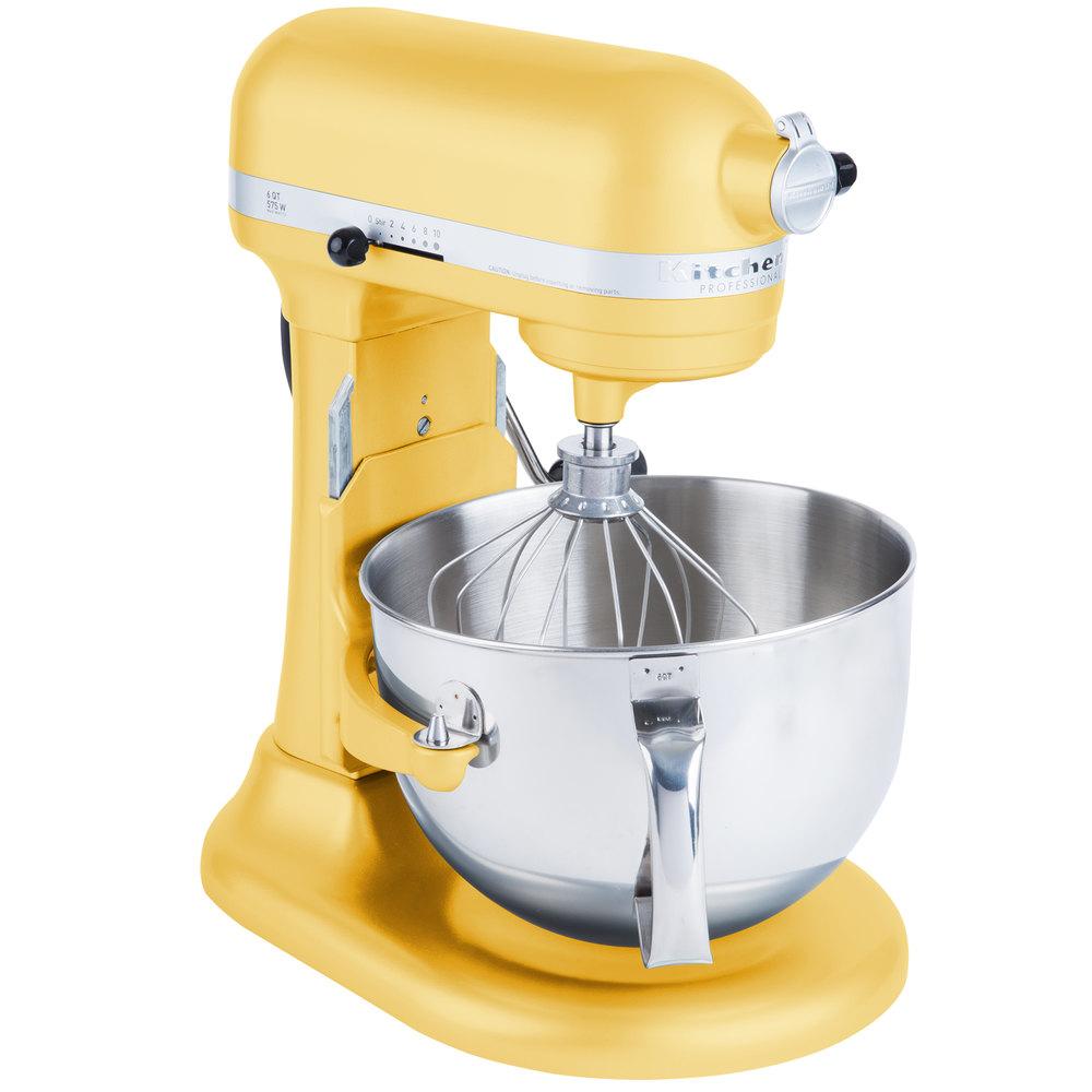 KitchenAid KP26M1XMY Majestic Yellow Professional 600 Series 6 Qt.  Countertop Mixer ...