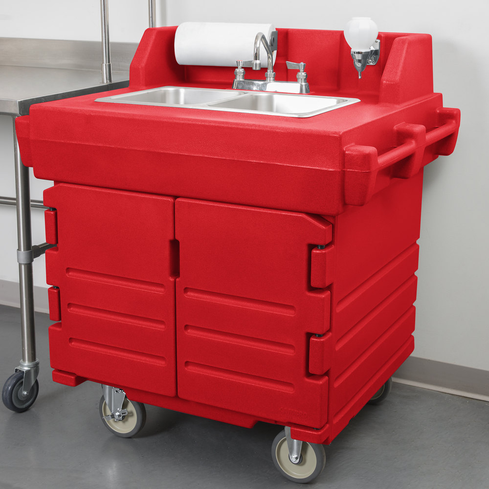 Cambro Ksc402158 Hot Red Camkiosk Portable Self Contained
