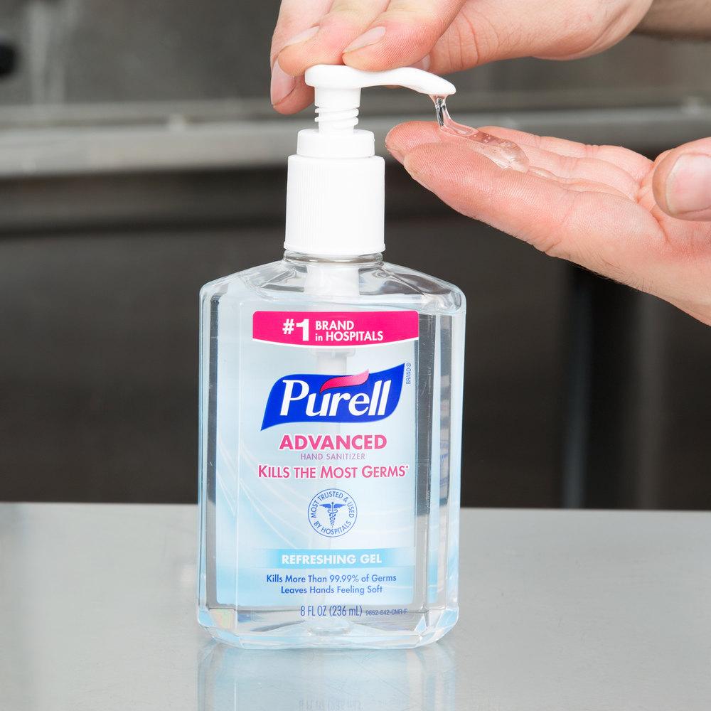 Purell® 9652-12 Advanced 8 oz. Gel Instant Hand Sanitizer ...