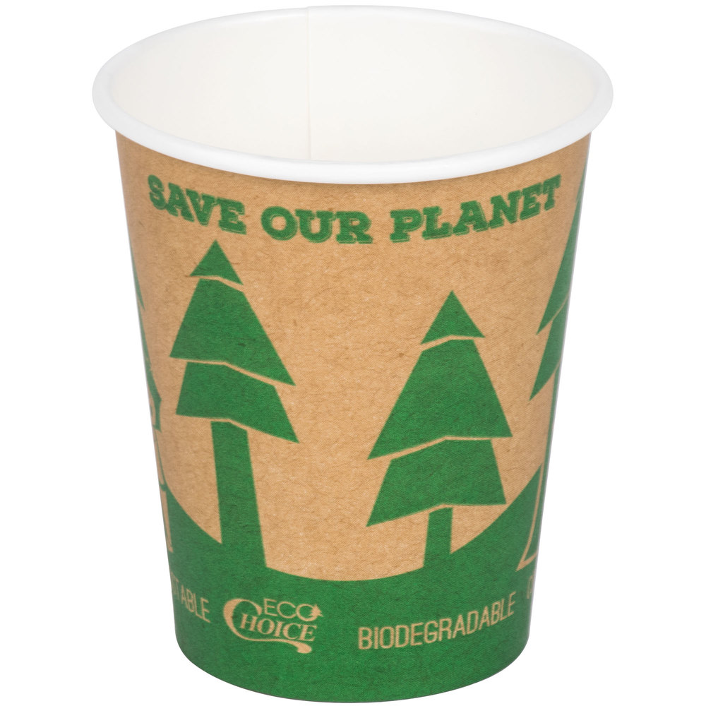Ecochoice 8 Oz Kraft Compostable And Biodegradable Paper