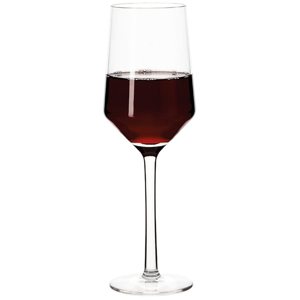 Get sw 1463 pc cl via 10 oz clear polycarbonate plastic wine glass 24 case - Plastic sangria glasses ...