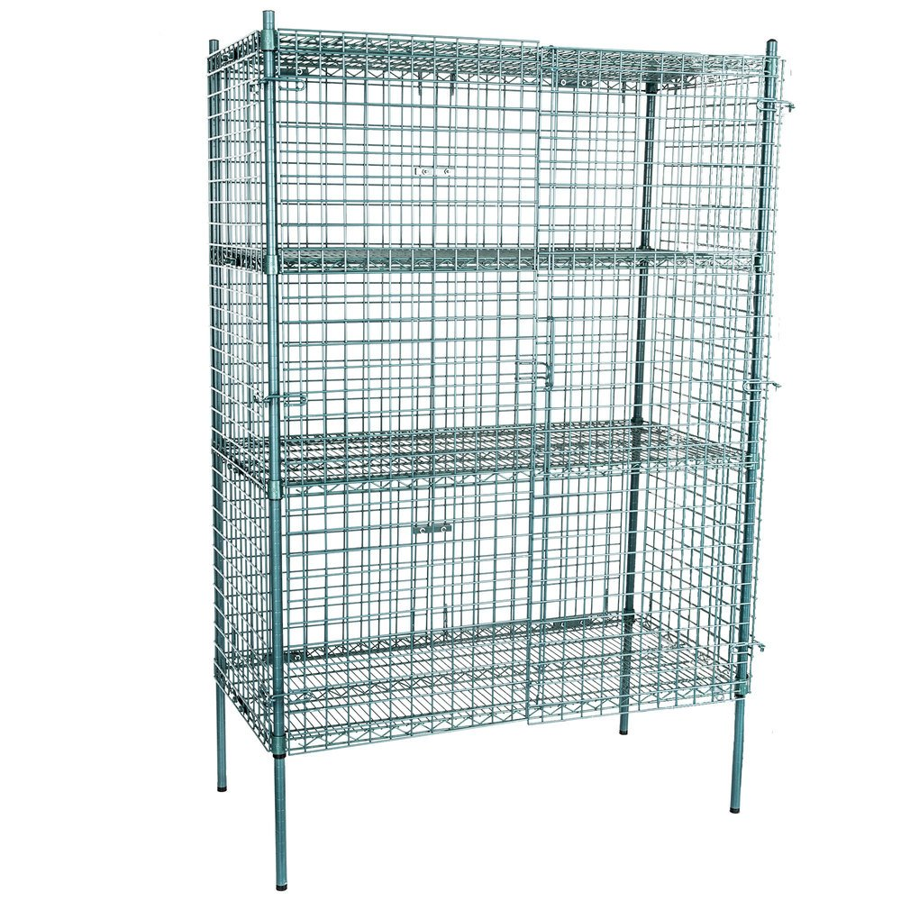 wire security shelving unit