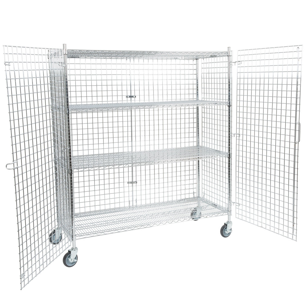 Regency Nsf Mobile Chrome Wire Security Cage Kit 24 Quot X