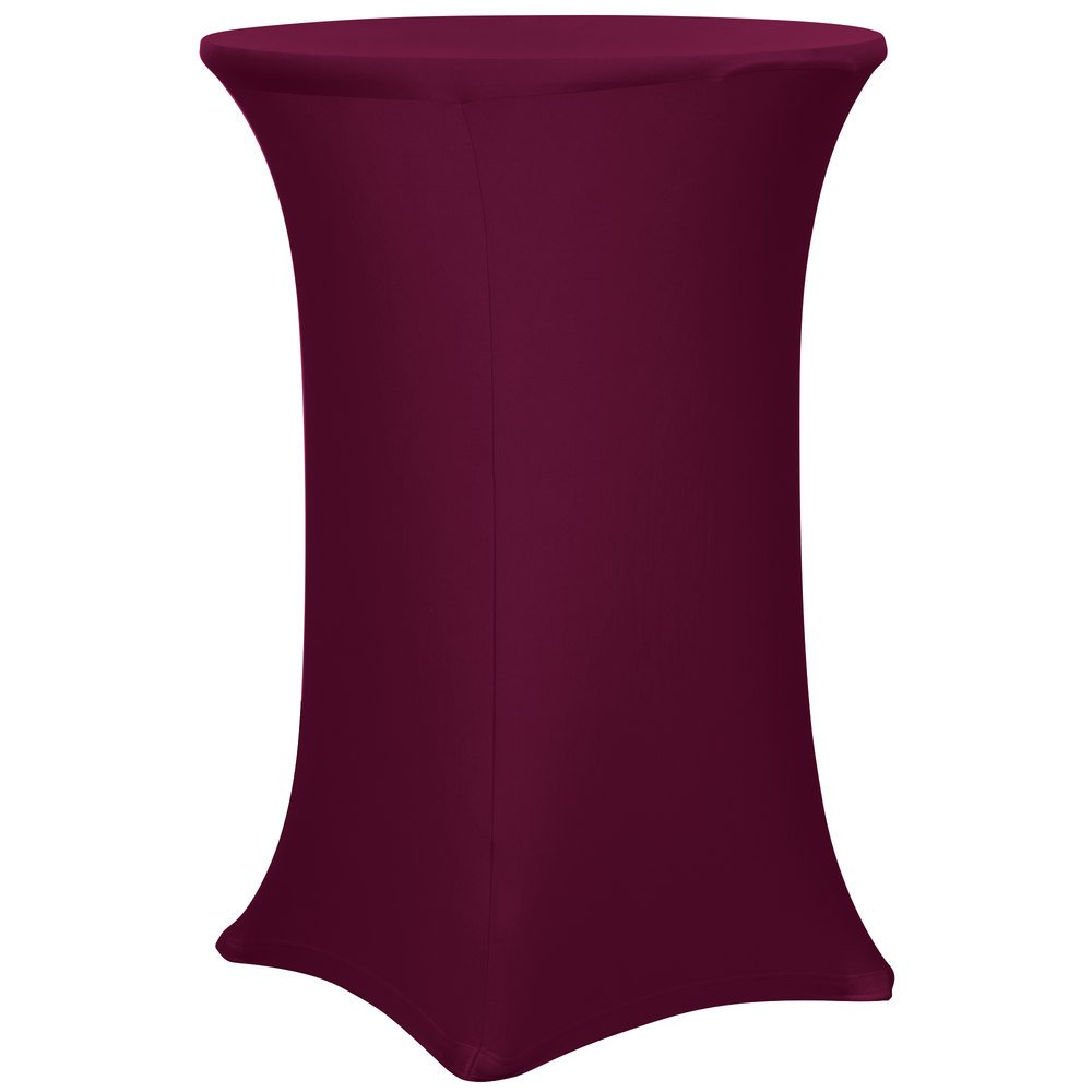 ... Round Burgundy Bar Height Spandex Table Cover. Main Picture ...