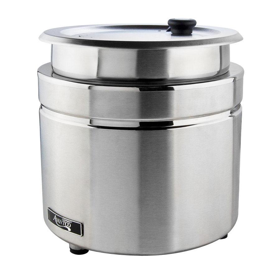 ... W800 11 Qt. Stainless Steel Countertop Soup Kettle Warmer - 120V, 800W