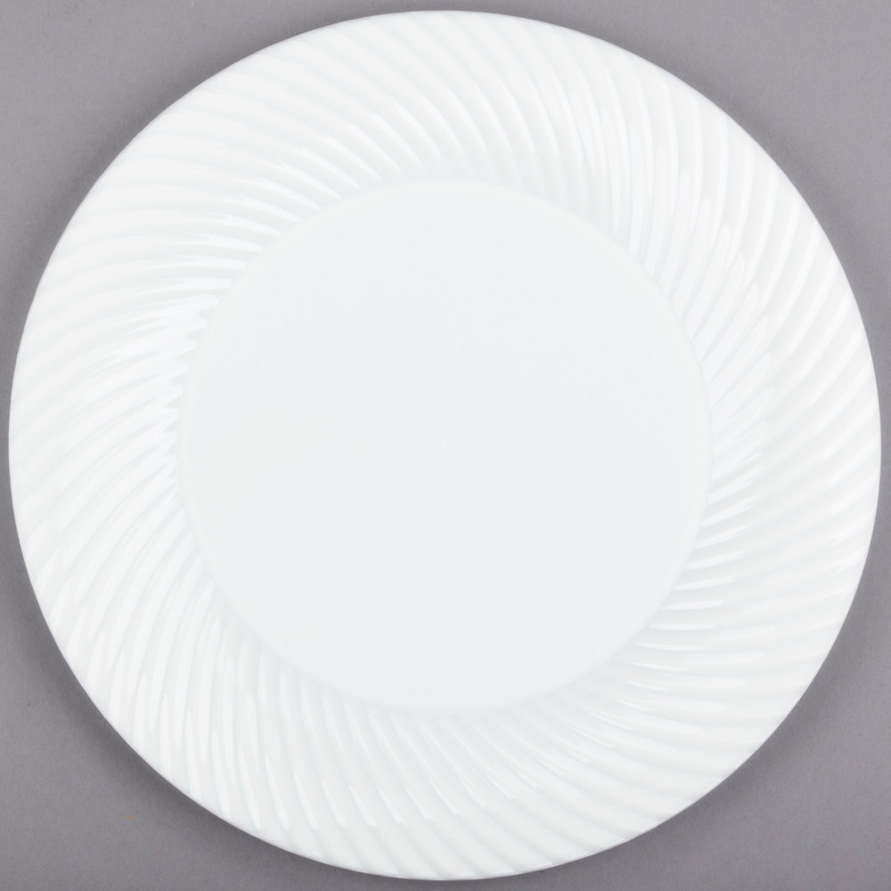 Visions Wave 10 inch White Plastic Plate - 18/Pack ... & Plastic Wedding Plates | Elegant Disposable Plates