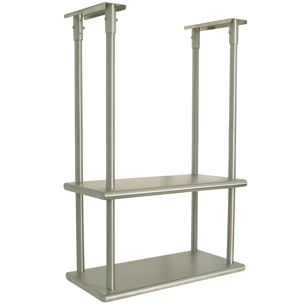 Advance Tabco Dcm 18 48 Stainless Steel Ceiling Mounted Double Shelf Inch