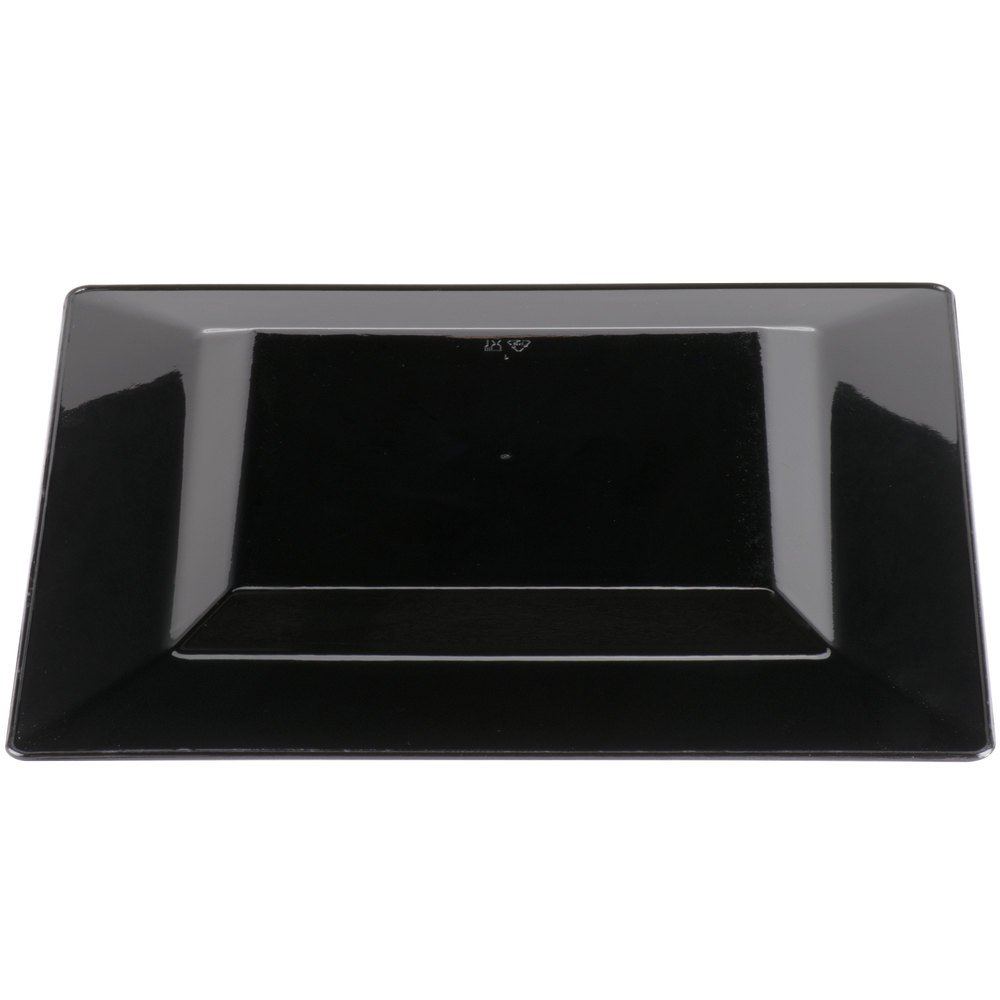 ... Square Black Plastic Plate - 10/Pack. Main Picture; Image Preview ...  sc 1 st  WebstaurantStore & Visions Florence 8\